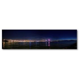 Αφίσα (νύχτα, φώτα, πυροτεχνήματα, θάλασσα, σκοτάδι, νύχτα)
